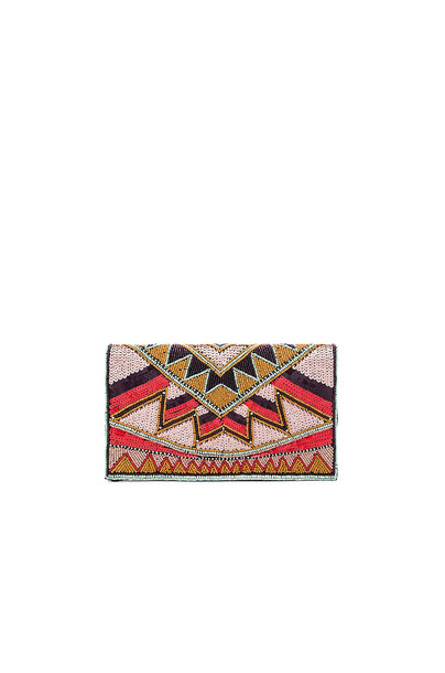 BCBGeneration beaded clutch pink
