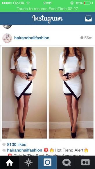 bandage dress white dress band skort blonde girl clutch bag high heels asymmetric angle cross overlap sleeves