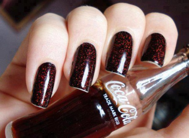 jewels nail polish coca cola nails cola