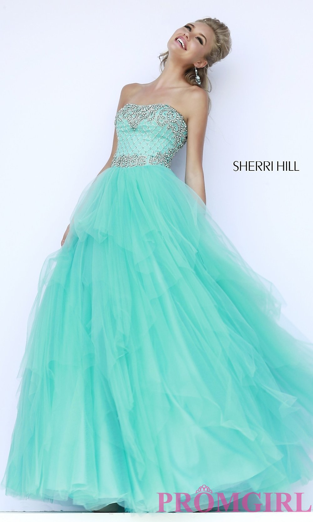 Strapless ball gown by sherri hill