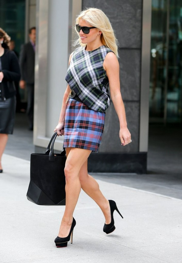 bag jessica simpson dress streetstyle shoes