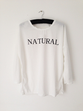 sweater,sweatshirt,shirt,clothes,natural,london,streetwear,urban,fashion,white,oversized t-shirt,graphic tee,celebrity style,celebrity style steal,lazy day