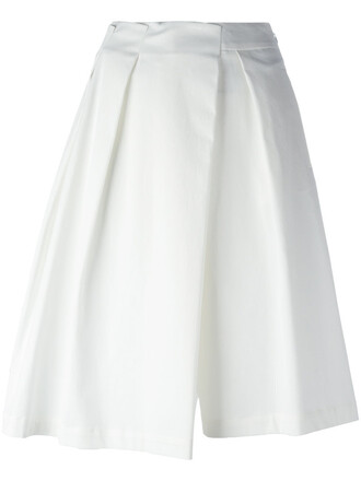 shorts pleated women spandex white cotton jil sander pleated skirt asymmetrical skirt white skirt female