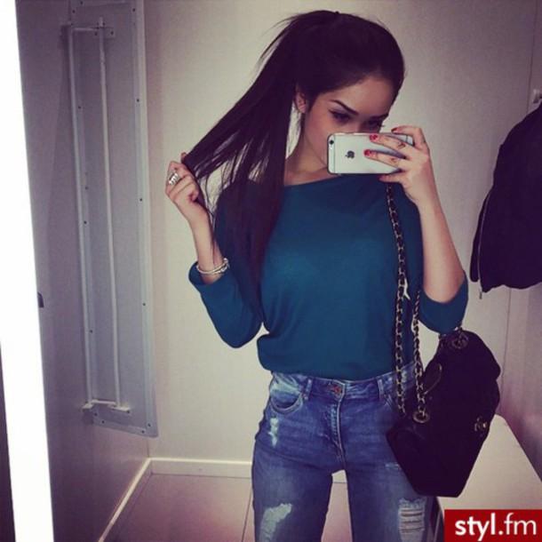 belt perfecto blouse green khaki bottle green top blouse beautiful color
