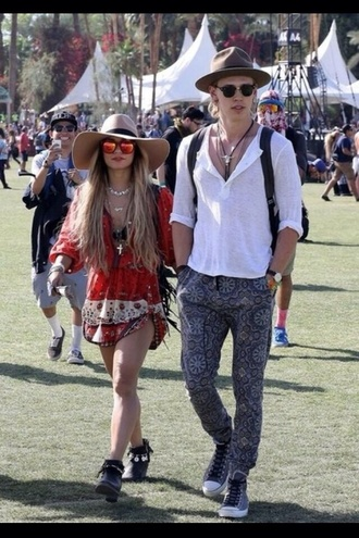 blouse dress vanessa hudgens coachella red boho indie earphones shorts shoes pants