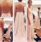 Custom made a line sweetheart neck pink backless long prom dresses, long formal dresses