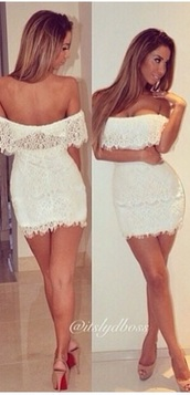 white dress,summer outfits,summer dress,beach,beach dress,lace up,classy,party,party dress,crochet,prom dress,high heels,heels,nude,style,sexy dress,fashion,nude high heels,dress,shoes