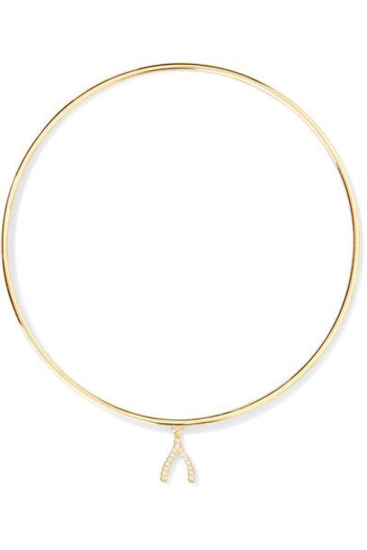 JENNIFER MEYER mini wishbone gold jewels