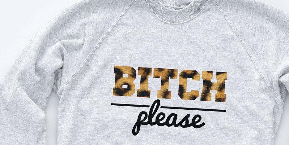 Bitch Please Leopard Print Hipster sweat Indie Swag Dope Sweatshirt Men Women   eBay
