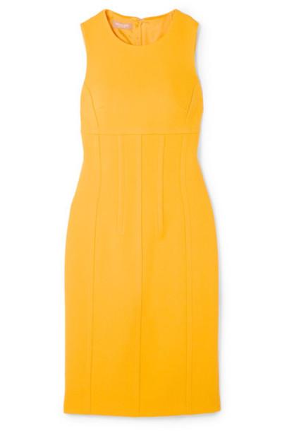 Michael Kors Collection dress wool yellow