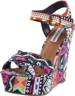 Steve Madden Women's Winonna Wedge Pump Bright Multi Women's - SoleShoppers | Shop w/ Free Delivery in the US