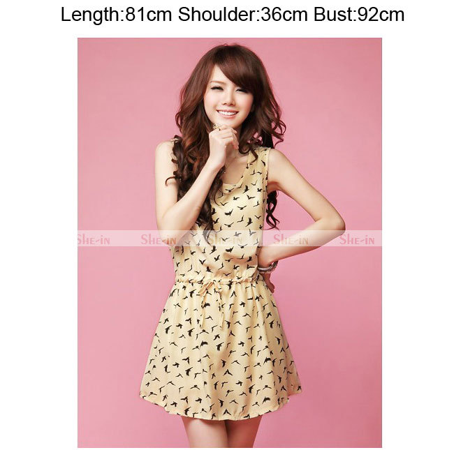 2013 New Summer Sweet Women's Draw Cord Sleeveless  Mini Vest Dress Ladies Girls #L034784-in Dresses from Apparel & Accessories on Aliexpress.com