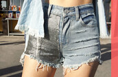 shorts,nastygal,nastygal.com,shopnastygal.com,distressed shorts,chainmail shorts,High waisted shorts,vintage-inspired shorts,star struck,star struck lookbkook,cut off shorts