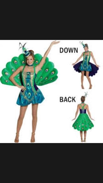 dress peacock halloween costume