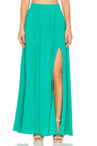 skirt maxi skirt maxi green