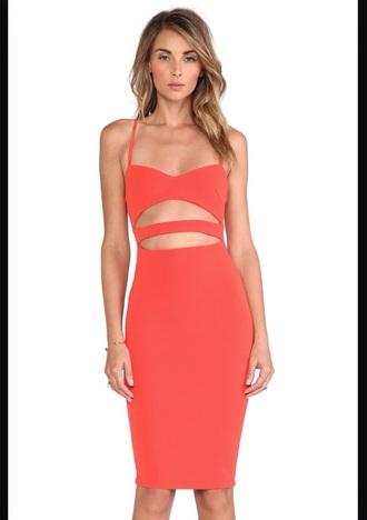 dress bandage dress blood orange