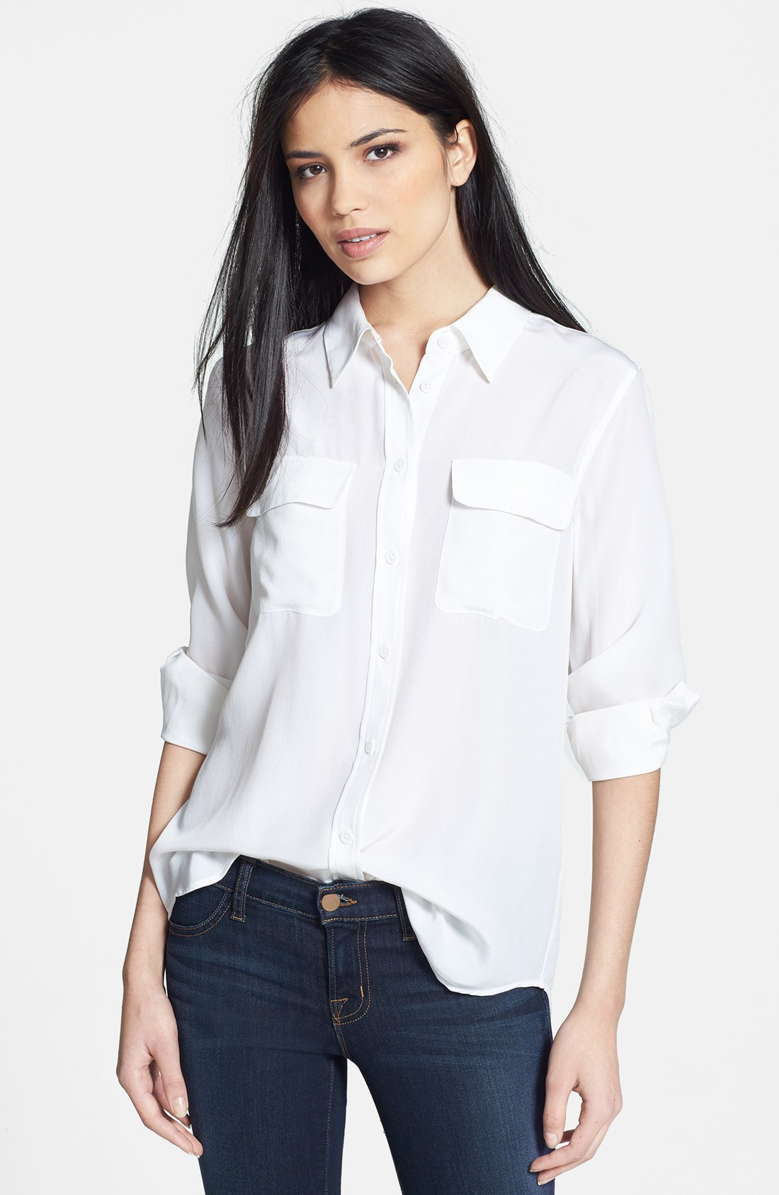 Signature' Silk ShirtNordstrom Equipment 'slim NOyn0vm8w