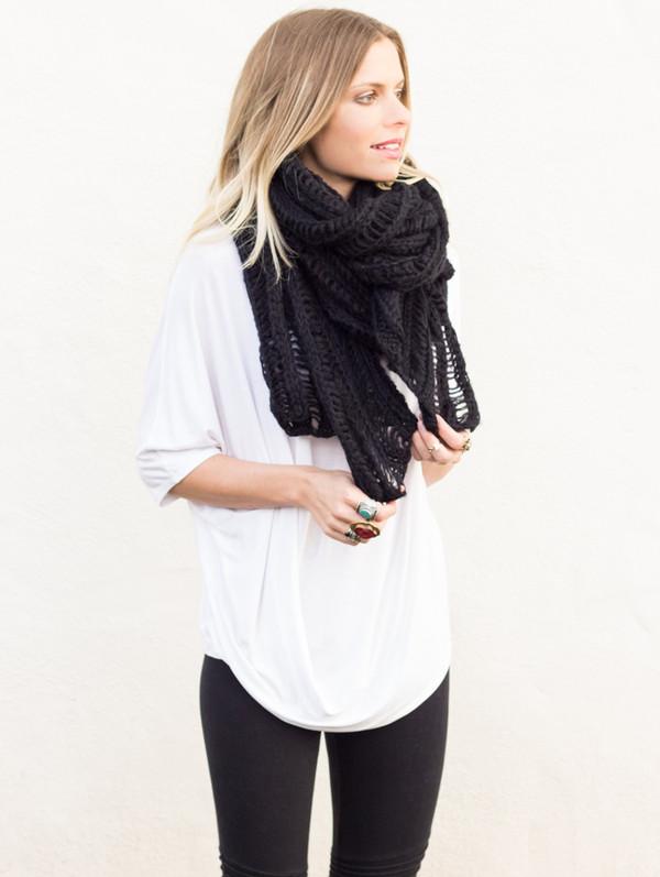 scarf beanie knit infinity scarf