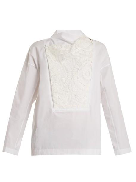 Toga top lace cotton white