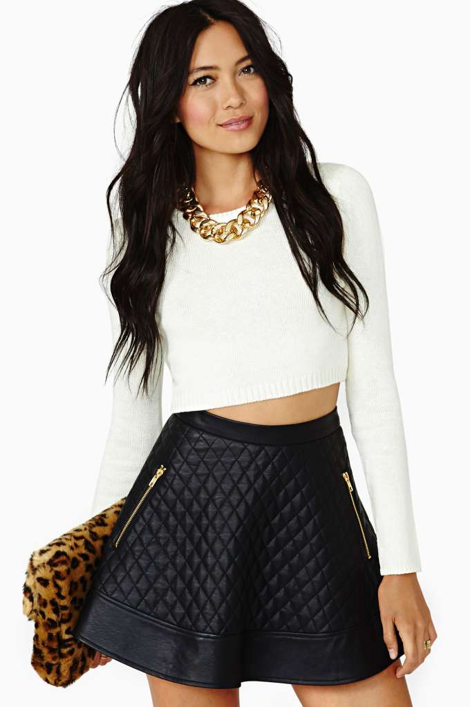 Nasty Gal Let It Be Crop Sweater - Ivory in  Clothes Tops Cropped at Nasty Gal