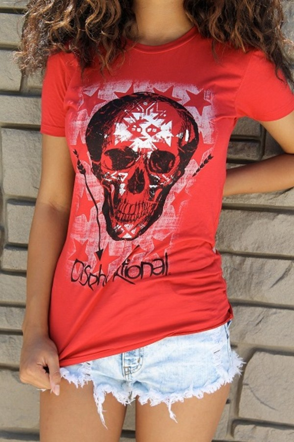 shirt t-shirt graphic tee red t-shirt