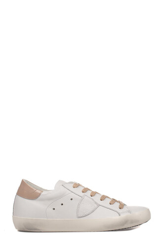 rose gold rose classic sneakers gold leather white shoes