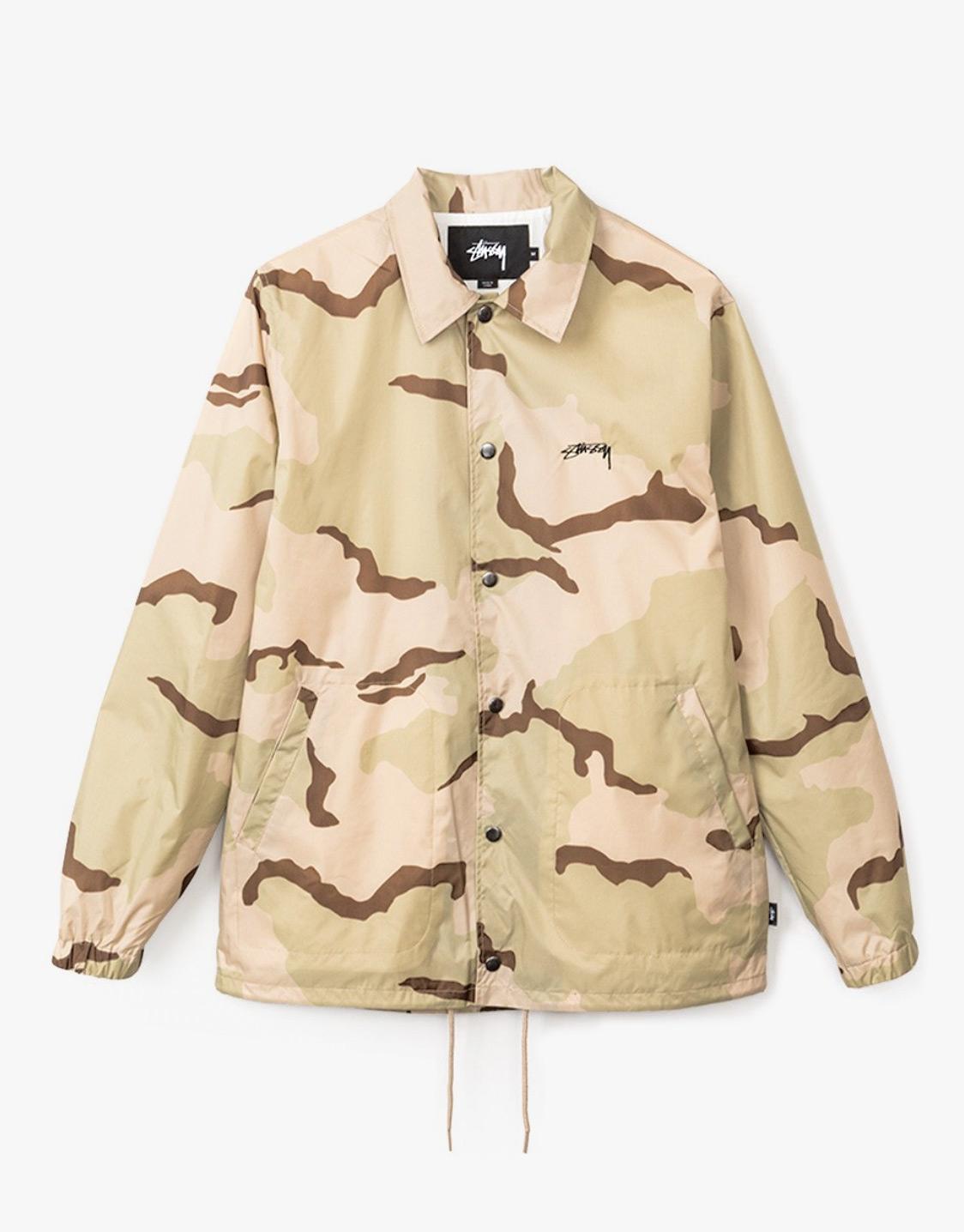 6028e0e916f5 Stussy Camo coach jacket - OnTheBlock