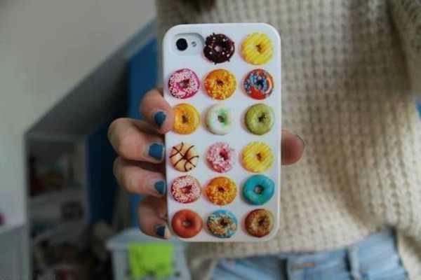 bag cover iphone case phone cover phone iphone donut donut white colorful colorful bright colorful bright coloured jewels iphone case donuts iphone case phone cover