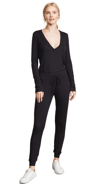 Riller & Fount Isabelle French Terry Jumpsuit in black