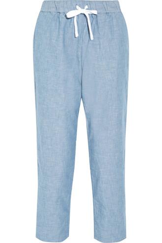 pants pajama pants cotton denim