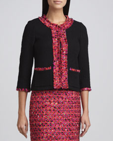 kate spade new york ginnifer tweed trimmed jacket  - Neiman Marcus