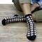Black checkered socks