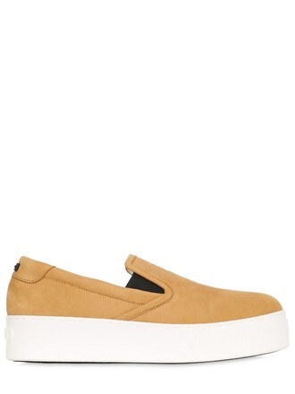 tiger sneakers suede camel shoes