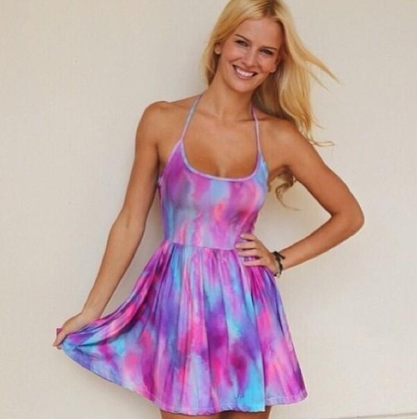 dress pretty skater fashion cute dress pink dress