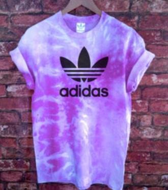 t-shirt adidas purple tie dye