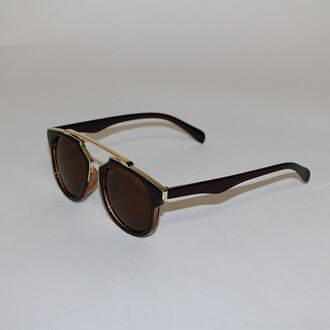 sunglasses bikini luxe brown gold