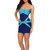 Venice Low-Cut Blue Bandage Dress | Emprada