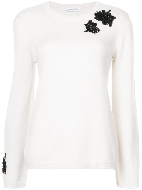 Prabal Gurung sweater embroidered women nude