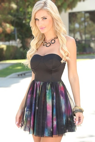 galaxy dress black dress