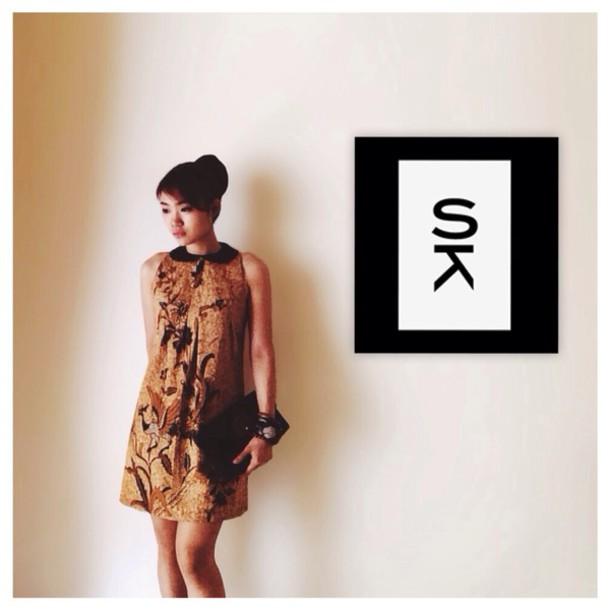 dress brown soka batik