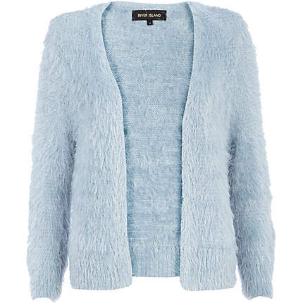 Light blue fluffy cardigan - cardigans - knitwear - women