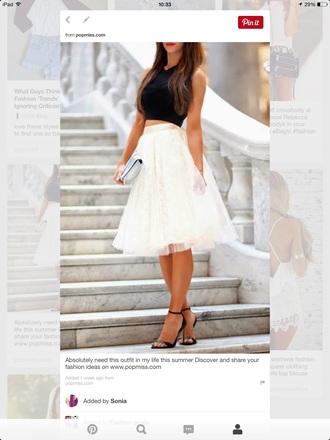 skirt white skirt long skirt style t-shirt