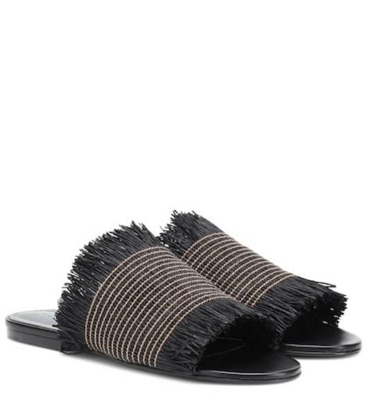 Proenza Schouler Raffia sandals in black