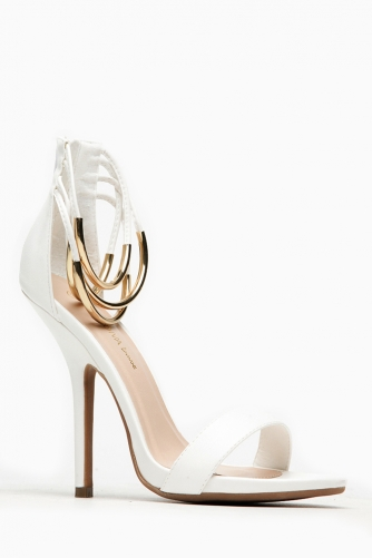 Wild Diva Bangle Ankle Strap White Heels @ Cicihot Heel Shoes online store sales:Stiletto Heel Shoes,High Heel Pumps,Womens High Heel Shoes,Prom Shoes,Summer Shoes,Spring Shoes,Spool Heel,Womens Dress Shoes,Prom Heels,Prom Pumps,High Heel Sandals
