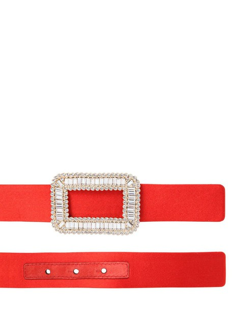 Roger Vivier belt satin red