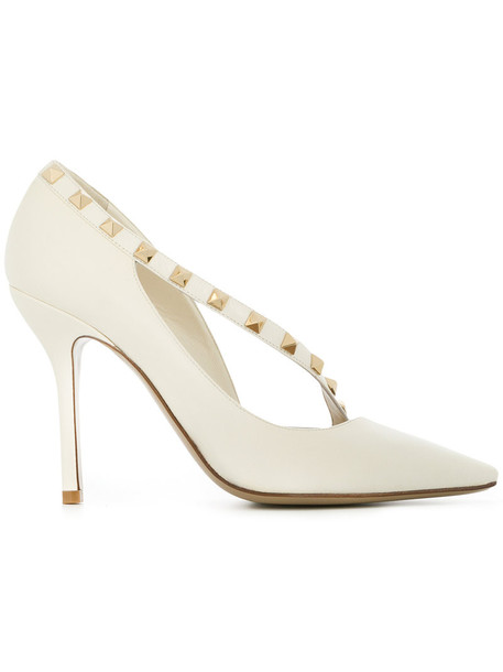 Valentino d'orsay pumps women pumps leather nude shoes