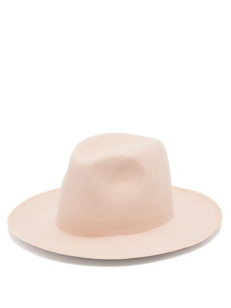 hat felt hat pink