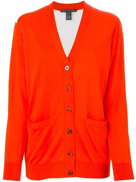 Marc by Marc Jacobs cardigan cardigan yellow orange sweater