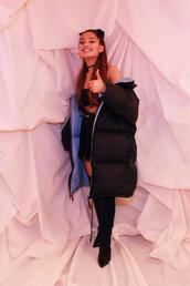 jacket,ariana grande,winter jacket,celebrity