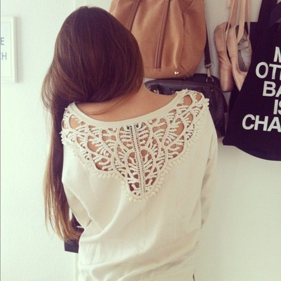 sweater tumblr white pullover girls clothes white sweather with holes summer beautiful white pullover